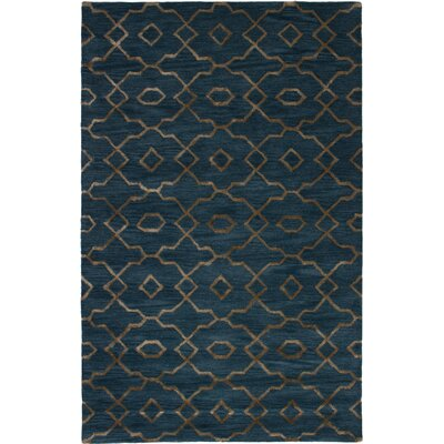 Harbin Hand-Tufted Navy Blue Area Rug