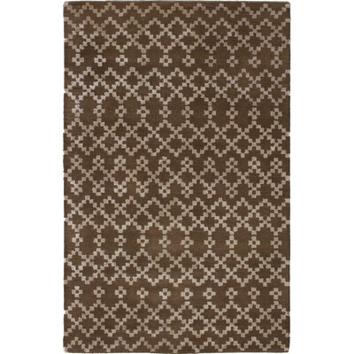 Manske Hand-Tufted Brown Area Rug