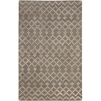 Manthey Geometric Art Hand-Tufted Khaki Area Rug