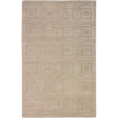 Hardaway Hand-Tufted Light Khaki Area Rug