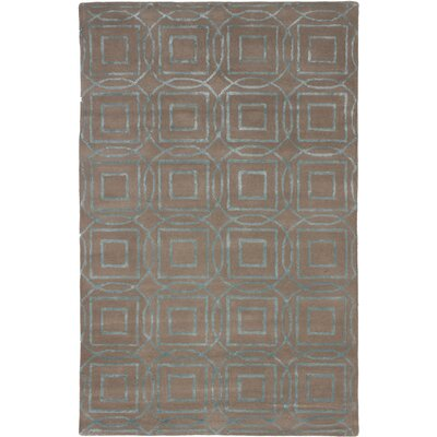 Hardaway Hand-Tufted Brown Area Rug