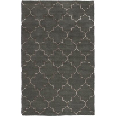 Helsley Hand-Tufted Dark Gray Area Rug