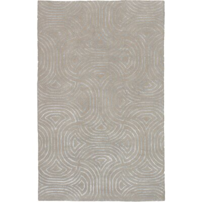 Helton Hand-Tufted Khaki Area Rug