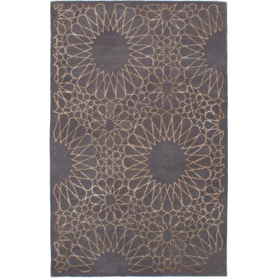 Helton Hand-Tufted Dark Gray Area Rug