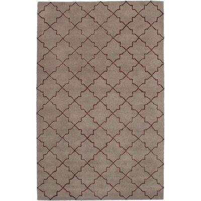 Helsley Hand-Tufted Khaki Area Rug