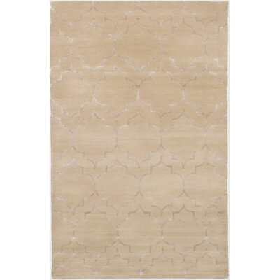 Helsley Hand-Tufted Light Khaki Area Rug