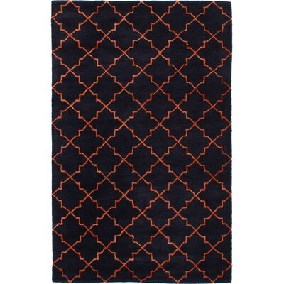 Helsley Hand-Tufted Dark Navy Area Rug