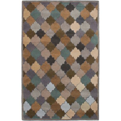 Partain Hand-Tufted Brown/Gray Area Rug