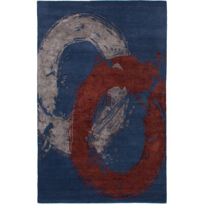 Maclachlan Hand-Tufted Dark Blue Area Rug