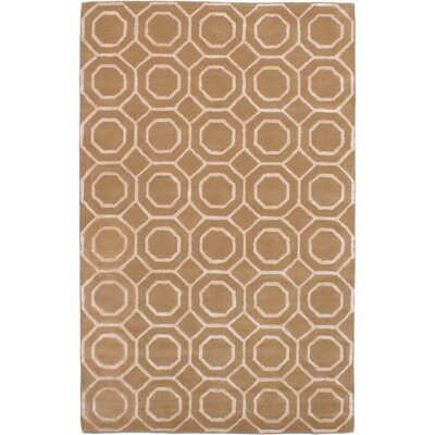 Hardaway Hand-Tufted Light Brown Area Rug