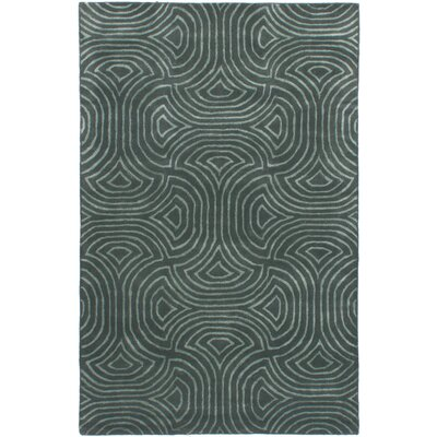 Helton Hand-Tufted Teal Area Rug