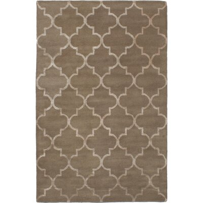 Helsley Hand-Tufted Dark Khaki Area Rug