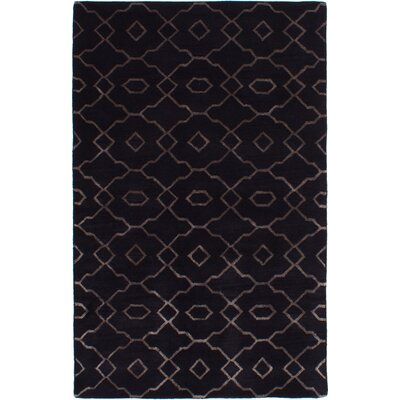 Metzinger Hand-Tufted Black Area Rug