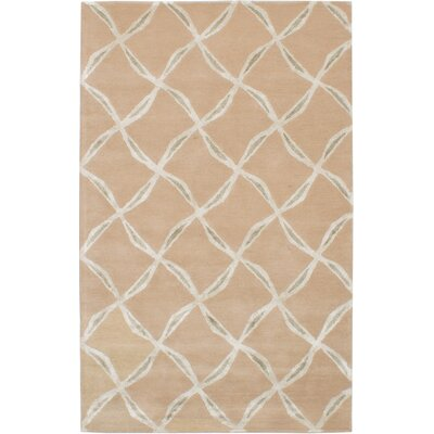 Helton Hand-Tufted Tan Area Rug