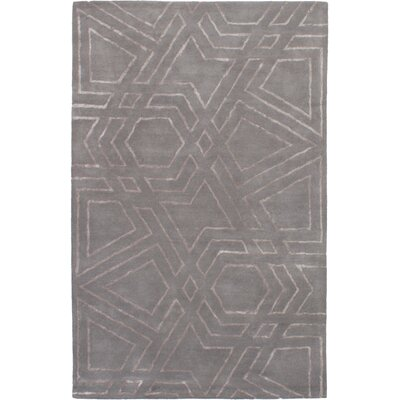 Helton Hand-Tufted Gray Area Rug