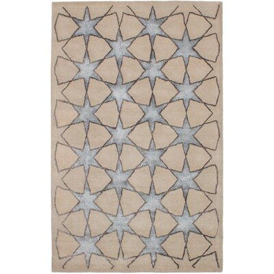 Helton Hand-Tufted Light Khaki Area Rug