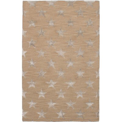 Hardeman Hand-Tufted Brown Area Rug