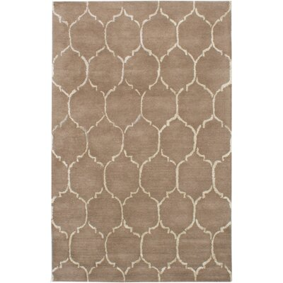 Helsley Hand-Tufted Brown Area Rug
