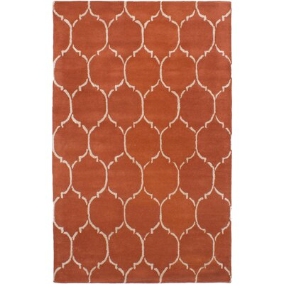 Helsley Hand-Tufted Dark Copper Area Rug
