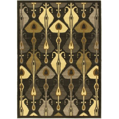 Summer Steel Ikat Lantern Open Field Area Rug Rug Size: 55 x 79