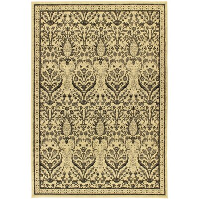 Summer Classic Cream Jardin Floral Area Rug Rug Size: 55 x 79