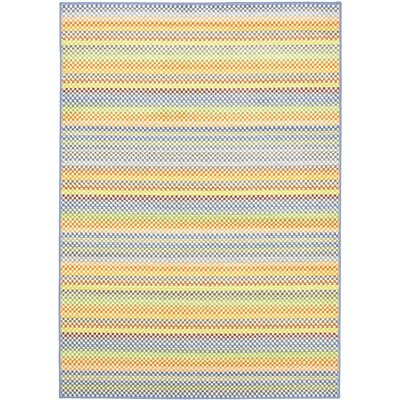 Chroma Pastel Light Blue Striped Rug