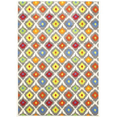 Summer Chroma Glow Abstract Area Rug Rug Size: 55 x 79