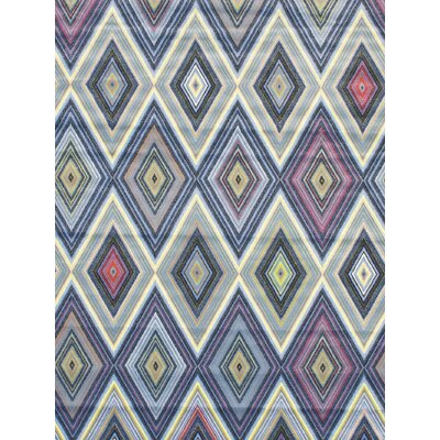 Summer Chroma Diamond Blue Abstract Area Rug Rug Size: 6'7
