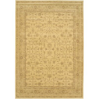 Summer Golden Lotus Open Field Area Rug Rug Size: 47 x 65