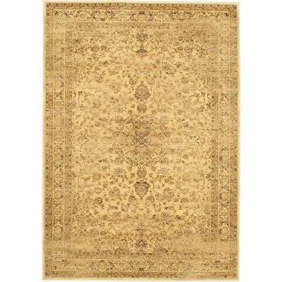 Summer Golden Medley Medallion Area Rug Rug Size: 55 x 79