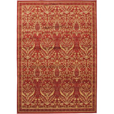Summer Ruby Garden Open Field Area Rug Rug Size: 67 x 96