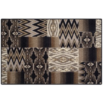Brockton Black/Tan Area Rug Rug Size: 2'6 x 3'10