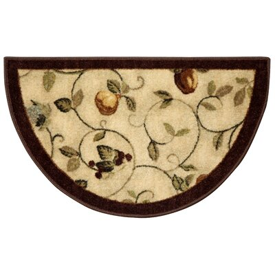 Miracle Fruit Cinnamon & Burgundy Area Rug Rug Size: Runner 11 x 9