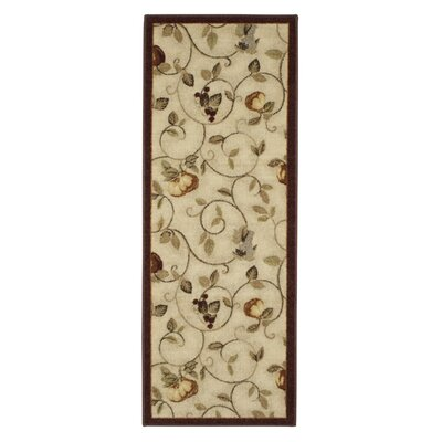 Miracle Fruit Cinnamon & Burgundy Area Rug Rug Size: Runner 11 x 5