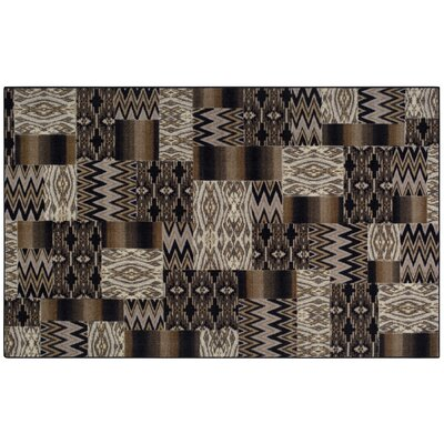 Brockton Black/Tan Area Rug Rug Size: 5' x 8'