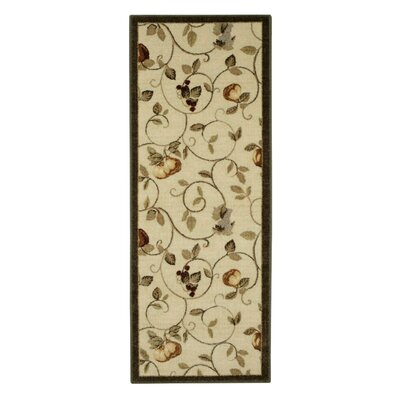Miracle Fruit Dark Green/Cream Area Rug Rug Size: Rectangle 18 x 5