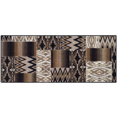 Brockton Black/Tan Area Rug Rug Size: 1'8 x 5'