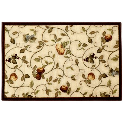 Miracle Fruit Cinnamon & Burgundy Area Rug Rug Size: Rectangle 26 x 310