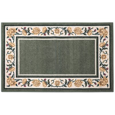 Salina Ivy/Cream Area Rug Rug Size: Rectangle 5 x 8