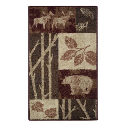Rustic Nature Garnet Area Rug