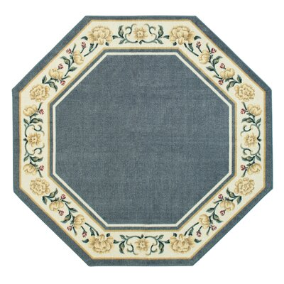 Salina Blue/White Area Rug Rug Size: Octagon 5