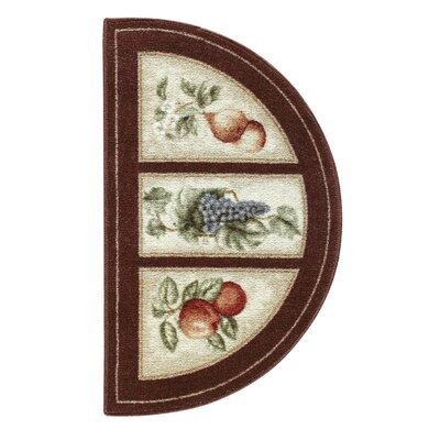 Edens Bounty Burgundy/White Area Rug Rug Size: Rectangle 17 x 28