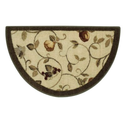 Miracle Fruit Dark Green/Cream Area Rug Rug Size: Rectangle 33 x 54