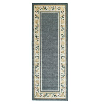 Salina Blue/White Area Rug Rug Size: Runner 11 x 5
