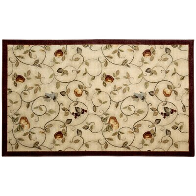 Miracle Fruit Cinnamon & Burgundy Area Rug Rug Size: 5 x 8