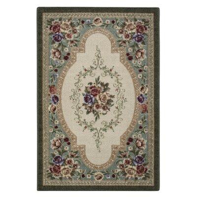 Nevaeh Emerald & Beige Area Rug Rug Size: 18 x 210