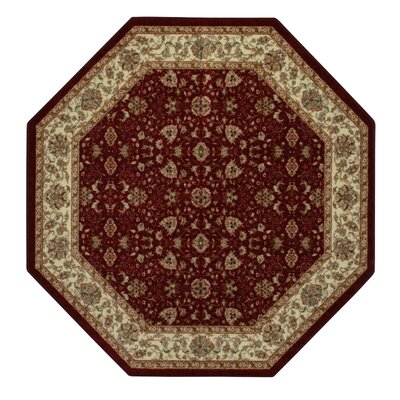 Amani Red Area Rug Rug Size: Octagon 5 x 5