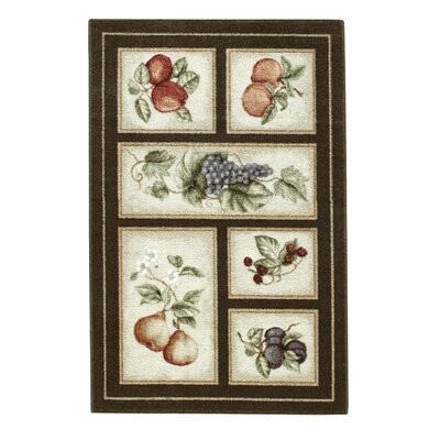 Edens Bounty Chocolate Area Rug