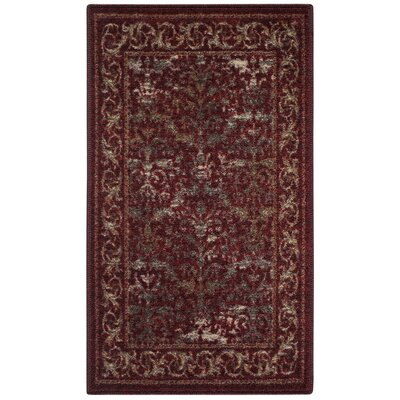 Gustavo Garnet Area Rug Rug Size: Rectangle 18 x 210