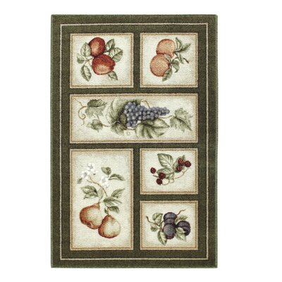 Edens Bounty Olive Green Area Rug